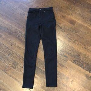 "Top Shop high rise Jaime skinny jeans inseam 30"""